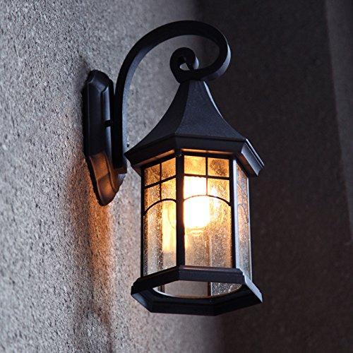 tutto in alta qualità e prezzo basso LANJINGRetro lampada da parete per esterni Lampada da giardino esterna esterna esterna europea impermeabile illuminazione giardino americano scale esterne balcone lampada da terra  stanno facendo attività di sconto