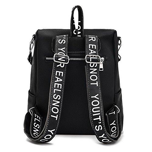 Femme Daypacks à Daypack Randonnée Dos Cuir CCAFBP180619 Noir de Sacs Escalade VogueZone009 PU aIdgaq