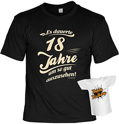 cooles T-Shirt zum 18. Geburtstag Leiberl Geschenk zum 18 Geburtstag 18 Jahre Geburtstagsgeschenk 18-jähriger Freund Es dauerte ... Gr: M