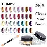 Gabcus 3g jar 16colors Magic Nail Glitter Metal