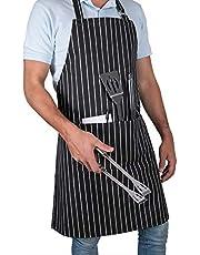 Lara Molina Mandil Chef Profesional Mandil Parrillero. Mandiles para Hombre y Mandiles para Mujer. Delantal Cocina Kit Parrillero y Kit Asador para Restaurantes, Meseros, Barbacoas y Asadores.