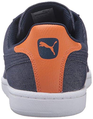 Puma Mens Smash Denim Fashion Sneaker Peacoat/Peacoat