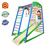 Wedanta Indoor Playground - Jungle Gym - Monkey Bars - Gymnastics Rings - Backyard Playsets for Kids - Playset for Toddlers - Toddler Climber - SportWood