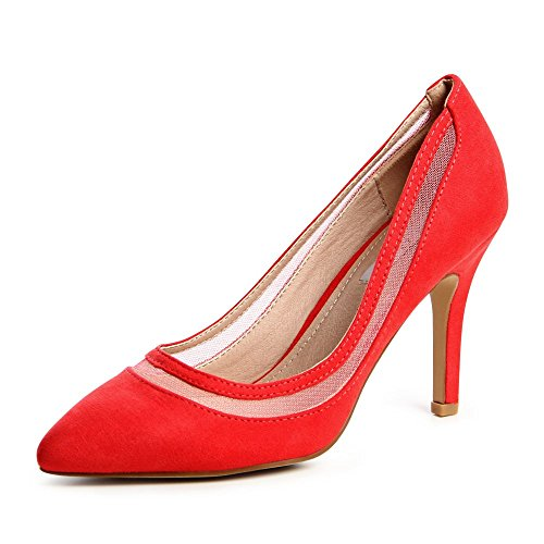topschuhe24 - Zapatos de vestir para mujer Rojo - rojo