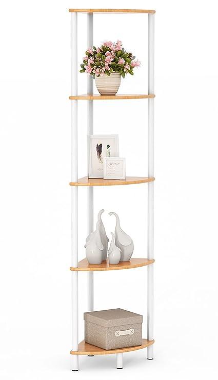 Amazon.com: Tribesigns Bamboo Bathroom Corner Shelf, Water Resistant ...