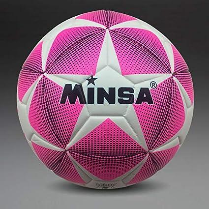 MINSA de balón de fútbol, tamaño 5: Amazon.es: Deportes y aire libre