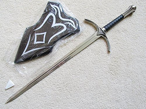 S4873 MOVIE LORD OF THE RINGS HOBBIT GLAMDRING GANDALF SWORD W/ WALL PLAQUE 26""