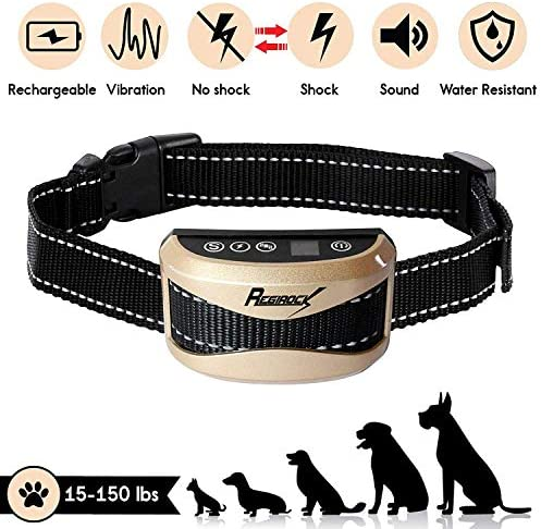 VINSIC Dog Training Collar, Rechargeable Shock Collar for Small to Large Dogs, 3 Training Modes Beep Vibration Shock , 330ft Remote Range