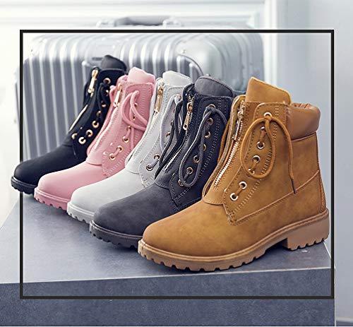 Forradas Botines Impermeables Martin 36 Eu Piel Nieve Zapatos Botas Moda Para 40 Mujer De Rosa Invierno Calientes Rxq4T8w