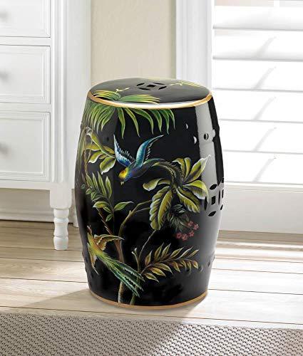 TC Ceramic Garden Stool Indoor-Outdoor Ceramic Seat Accent Plus Decorative Stools Classic Indoor Decorative Stool.