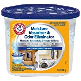 Arm & Hammer FGAH14 Moisture Absorber & Max Odor Eliminator Tub, 14 Ounce, 14 oz Blue