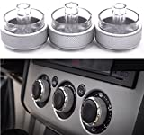 #9: Yosa 3pcs/set Car Air Conditioning knob Installation heat control Switch AC Knob for FORD FOCUS 2 focus 3 car accessorie parts (silver)