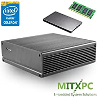 Mitac E400 Fanless Dual LAN Mini-ITX PC w/ 4GB DDR3L, 128GB SSD, Intel Celeron J1900, PD11BI CC - Configured and Assembled by MITXPC