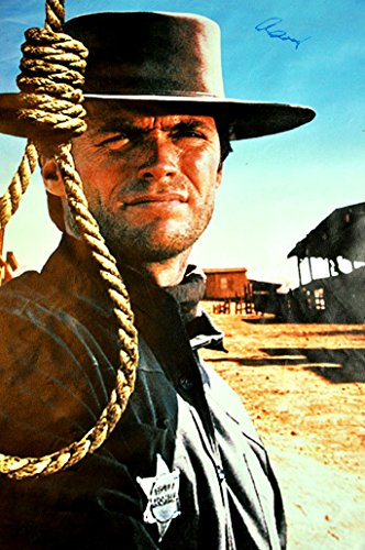 Hang Em High Movie Clint Eastwood Signed 24x36 Canvas Poster Photo from Autograph Pros, LLC