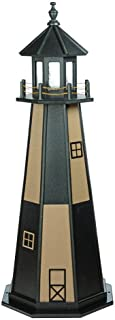 product image for DutchCrafters Decorative Lighthouse - Wood, Cape Henry Style (Weatherwood/Black, 5)