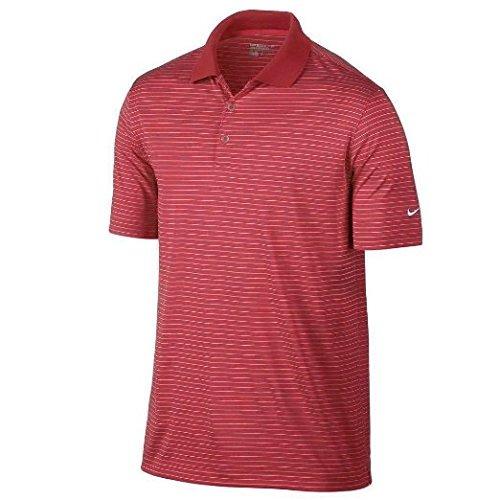 Nike Golf Men's Victory Stripe Polo DARING RED/WHITE L
