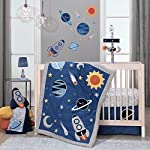 Lambs-Ivy-Milky-Way-GrayBlue-Stars-and-Planet-MinkySherpa-Soft-Baby-Blanket
