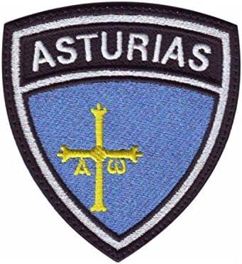 MAREL Parche termoadhesivo con bandera de Asturias, bordado Embroidery 6,5 x 5,5 cm – 1426: Amazon.es: Hogar