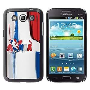 Baloncesto N B A - Metal de aluminio y de plástico duro Caja del teléfono - Negro - Samsung Galaxy Win I8550