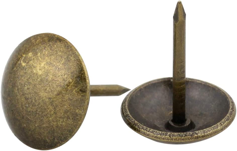 Yasorn 100pcs Antique Upholstery Nails Decorative Furniture Tacks Set Thumb Tack Push Pins DIY 1/2