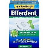Efferdent Plus Mint Denture Cleanser Tablets 90 ea (Pack of 8)