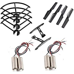 GESELLER 1Set Propellers+4pcs Motors+1Set Propeller Pro+1Set Landing Gear Spare Parts For JXD 509G 509W RC Quadcopter Drone.