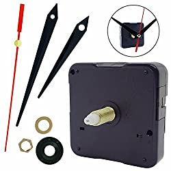 Clock Mechanism Clock Movement Replacement with Hands - 1/2 Inch Maximum Dial Thickness, 15/16 Inch Hand Shaft Length, Mute Scanning Battery Operated by AurelionX