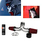C5 Corvette Dual High Flow Cold Air Intake Complete Kit LS1 and LS6 Red Filters
