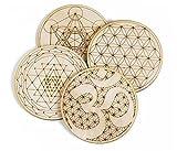 Sacred Geometry Coasters, One Set of Four...