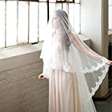 Lace Cathedral Mantilla Veil with French Alencon Lace