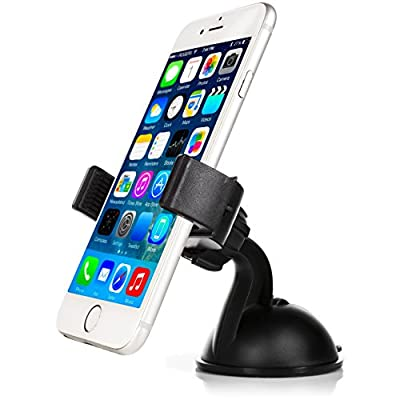 Mobility Universal Smart Phone Car Mount with Suction for Dashboard / Windshield - Cell Phone Holder Compatible with Virtually any Smartphone Including Apple iPhone, Samsung Galaxy & More