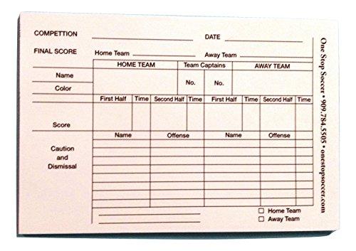 1 Stop Soccer Referee Score Pads 100 ()