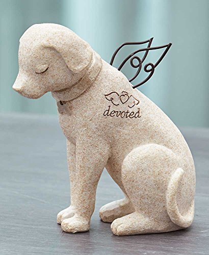 The Lakeside Collection Bereavement Faithful Angel Memory Memorial Dog Pet Figurine Statue