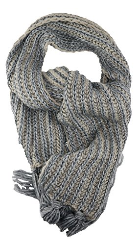 Alpaca Striped Scarf (Corti Women's Striped Wool Knit Oversized Scarf)
