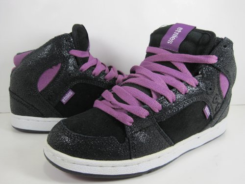 Etnies ETNIES Perry Mid Black Purple - Zapatillas de piel de cerdo para mujer Black Purple