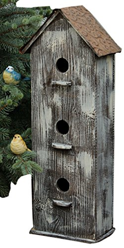 Your Heart's Delight 7-1/2 by 25 by 5-Inch 3 Story Bird House, Large For Sale