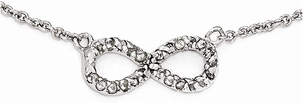 Jewelry Necklaces CZ Cheryl M Sterling Silver CZ Infinity Symbol 18in Necklace