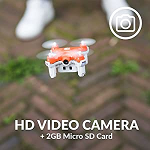SKEYE Nano 2 Camera Drone with Auto Take-Off and Land - Quadcopter with HD Video Camera - 6 Axis Gyro by TRNDlabs