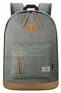 EcoCity Classic Vintage College School Laptop Backpack Bag Pack Super Cute for School BP0033G3N(Grey)