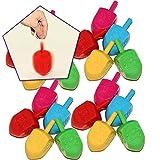 Super Traditional Hanukah Party Dreidels Spin Game 25 per Pack