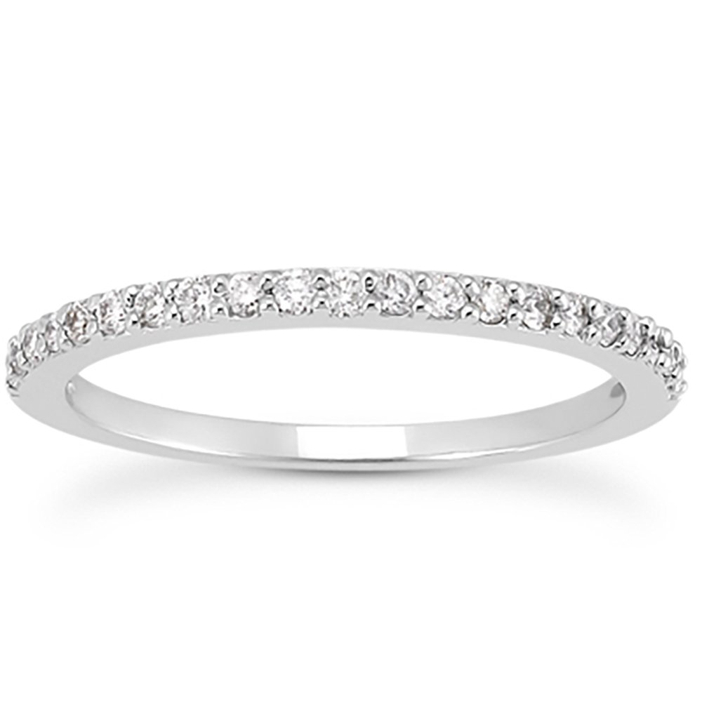AGS Certified 1/4 Carat TW White Diamond Band in 10K White Gold by Szul