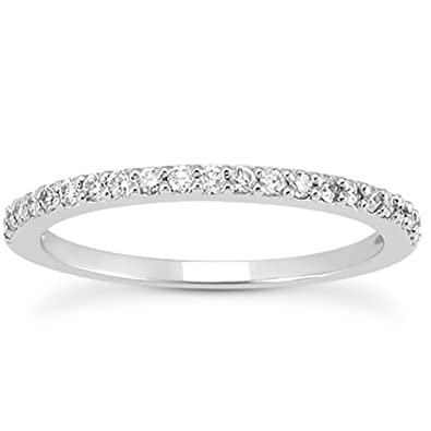 Amazon AGS Certified 1 4 Carat TW White Diamond Band in 10K