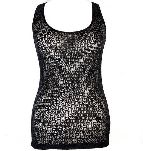 Dolce   Gabbana - Canottiera - donna nero 46  Amazon.it  Abbigliamento 20ac5ef54e4