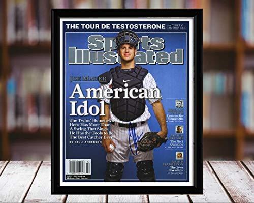 - Joe Mauer Sports Illustrated Autograph Replica Print - American Idol - 8/7/6 - 8x10 Desktop Framed Print