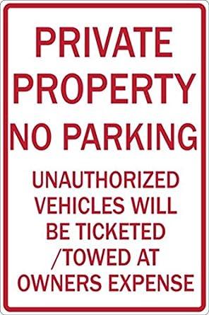 Zing 2274 Eco señal de prohibido aparcar, propiedad privada ...
