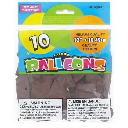 Latex Deep Violet Balloons 8ct