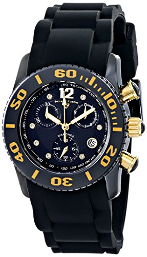 Swiss Legend Women's 10128-01-GA Commander Diamonds Analog Display Swiss Quartz Black Watch