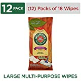 MURPHY OIL SOAP Soft Wipes, Multi-Use Cleaning Wipes, Resealable Package, (Model Number: 125902), 18 Count, Pack of 12