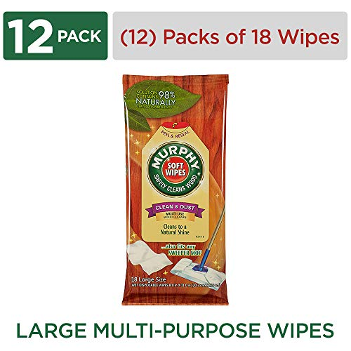 Palmolive Cleaner Colgate (MURPHY OIL SOAP Soft Wipes, Wood Cleaner Wipes, Multi-Use Cleaning Wipes, Finished Surface Soft Wipes, Resealable Package, 18 Count (Case of 12) (Model Number: 125902))