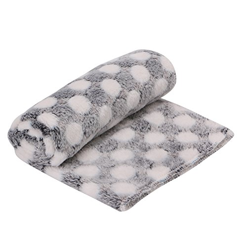 Kocome Pet Blanket Dog Puppy Kitten Cat Bed Pad Cute Animal Gift Warm Soft Flannel Mat (Black)